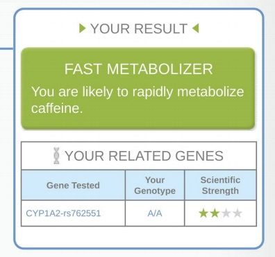sample DNA testing result